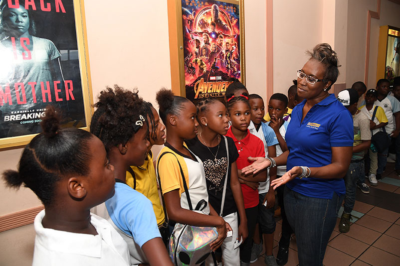 Peter Rabbit Entertains GSAT Students